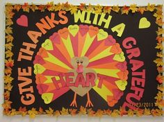 Give Thanks With A Grateful Heart Bulletin Board Idea