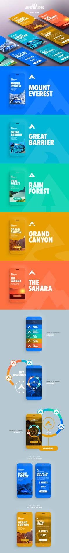 Color, adventure, mobile design, slides in Digi'al