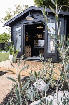 Backyard Office, Backyard Studio, Outdoor Office, Garden Office, Outdoor Decor, Rustic Loft, Rustic Cottage, Rustic Exterior, Exterior Design