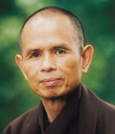 """Thich Nhat Hahn, world renowned writer, spiritual leader, scholar, poet, peace activist, and Buddhist monk. Became a monk at 16. Went to the US to study but returned to VietNam during the war and began """"engaged Buddhism"""" which blends meditation with active nonviolent civil disobedience."""