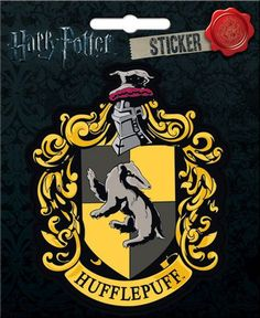 Harry Potter Hufflepuff Crest Bumper Sticker Decal