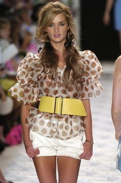 Super cute & fun look for summer, love the hair!.....Betsey Johnson