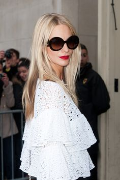 Poppy Delevigne attending the Chanel RTW Fall/Winter 2012 - PFW - Grand Palais ~ I have this top!