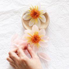 Paper Dahlia Flowers by A Petal Unfolds