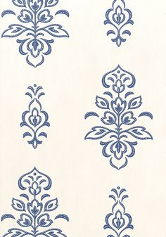 "ST. BARTS, Navy on White, T4965, Collection Jubilee from Thibaut.  25.25"" repeat."