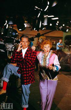 I Love Lucy (1951-57, CBS) — Desi Arnaz & Lucille Ball at Desilu Studios, 1958