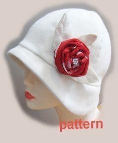 Cloche Hut nähen Muster-Mittel Roaring 20 s Flapper von McHats