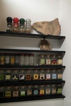 Spice Jar Labels, Spice Jars, Spice Organization, Kitchen Storage, Liquor Cabinet, English, Ebay, Design, Home Decor