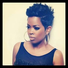 Malinda Williams- Actress whose pixie cut hair styles are signature style and are always on point