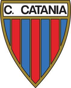 Catania FC of Italy crest. Soccer Logo, Sports Logo, Soccer Teams, World Football, Sport Football, Badges, Football Italy, Fifa, Old Logo