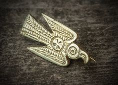 Merovingian eagle brooch.