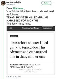The Texas Shooter's First Victim Rejected Him, And People Are Furious At How This Paper Broke The News