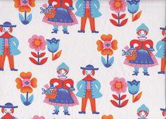 1970s  Cotton Fabric - Scandi/Folk