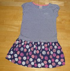 GYMBOREE EVERYDAY FAVORITES BLUE STRIPED POLKA DOT DRESS GIRLS 6 #Gymboree #EverydayHoliday