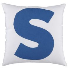 ABC Throw Pillows (Letter S)  | Crate and Barrel