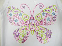 7 H x 8 W Super Colorful Butterfly by XOXOBLING on Etsy, $8.99