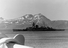 German cruiser KMS Admiral Hipper off Norway 1942.