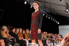 twoWORLDS 2013 Silk Jumpsuit, Peplum Jacket, Ruffle Shirt, Vibrant, Pattern, Color, Collection, Design, Style