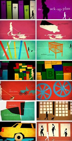 The Back-Up Plan, title sequence concept Creative Director: Michael Riley, Designed and produced by Shine. Graphic Design Trends, Graphic Design Print, Design Design, The Back Up Plan, Adobe Illustrator Tutorials, Tissue Paper Flowers, Title Sequence, User Experience Design, Dashboard Design