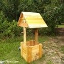 Wooden Wishing Well Plans | MyOutdoorPlans | Free Woodworking Plans and Projects, DIY Shed, Wooden Playhouse, Pergola, Bbq Outdoor Wood Projects, Diy Outdoor Furniture, Garden Projects, Pallet Furniture, Pallet Projects, Art Projects, Easy Woodworking Projects, Woodworking Plans, Diy Planters Outdoor