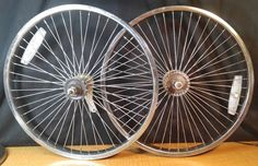 "WHEELS 20 "" 48 SPOKES LOWRIDER  BMX BIKE BICYCLE  MUSCLE  WHEEL SET FREESTYLE  #Generic"