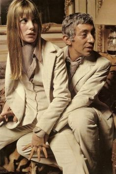 Serge Gainsbourg & Jane Birkin... not so much a fan of the matchy/matchy, but Serge really was the master of 'louche'