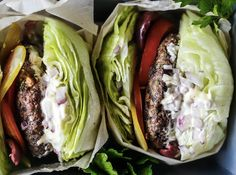 whole30 lunches greek burgers SLIDE