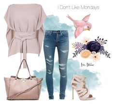 """""""I Don't Like Mondays"""" by debbie-michailides ❤ liked on Polyvore featuring Yves Saint Laurent, TIBI, Valentino and Carvela"""