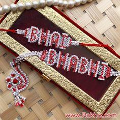 Red White Diamond Crafted Bhai Bhabhi Rakhi Raksha Bandhan Photos, Happy Raksha Bandhan Images, Diwali Decorations, Handmade Decorations, Raksha Bandhan Drawing, Arti Thali Decoration, Rakhi Greetings, Happy Raksha Bandhan Wishes, Buy Rakhi Online