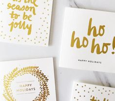 Gold Foil Holiday Cards | Holiday Cards That Wont Make You Cringe | StyleCaster
