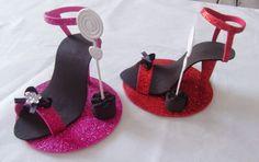 DOCES LEMBRANÇAS DA SANDRA ARTERA: Como fazer sandália para lembrancinha de 15 anos