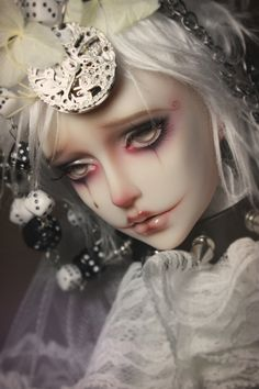 Clown ~ Doll ~ 	Unhappiness ~ Sadness ~ #bjd