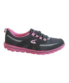 Look what I found on #zulily! Gray & Hot Pink Mesh Running Shoe by Dream Seek #zulilyfinds