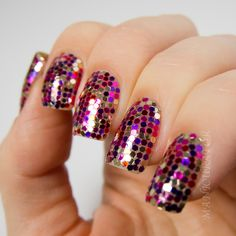 Oi vey!  Disco nails!!!!  manicurator: Holidays Ornament Nail Art