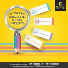 As a top web design and development company, Iconic Creators is proud to offer complete Web & Graphic services to our both domestic and international clients.   Consult us at info@iconiccreators.com or Visit us at www.iconiccreators.com Or call at +91 95555 85489 | 80100 95990