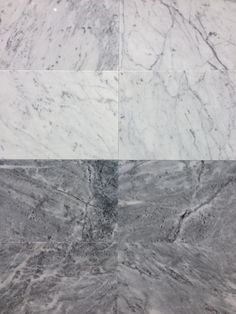 Bianco Carrara marble tile 12x24 Amadeus Bluette marble tile 12x24 http://cstile.ceramstone.com/products/product-category/natural-stone/marble/ Also comes in slab form from our sister company Margranite  http://margranite.ceramstone.com/product-category/marble/