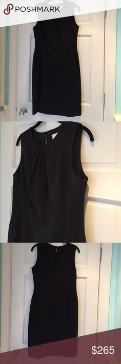 Kate Spade BLACK Tamris Dress NWT! Kate Spade BLACK Tamris Dress new with tags!!!. Stock pictures show a coral color, but the dress for sale is black. The perfect little black dress!  Wear as a cocktail dress or wear to work with a cardigan! kate spade Dresses Midi