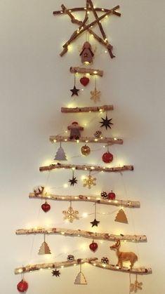 Twig Christmas Tree, Best Christmas Lights, Christmas Window Display, Christmas Tree Design, Modern Christmas, Diy Christmas Ornaments, Christmas Sewing, Christmas Projects, Kids Christmas