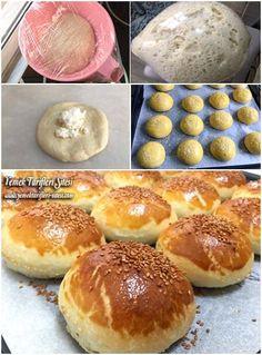 Sıvı Kremalı Peynirli Poğaça Tarifi Beautiful Cakes, Yogurt, Delicious Desserts, Hamburger, Pizza, Bread, Cooking, Recipes, Food