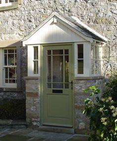Adventurous expanded entrance porch design check my source Cottage Front Porches, Enclosed Front Porches, Porch Uk, Cottage Front Doors, House Front Porch, Cottage Door, Front Porch Design, Cottage Exterior, Porch Doors Uk
