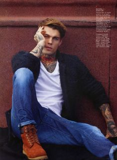 Denim-Clad Rebel Portraits - The Stephen James Men's Health Fashion Feature is Rugged (GALLERY)