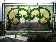 MADE to ORDER  FleurdeLis Stained Glass by CreativeSpiritGlass, $350.00  This is awesome