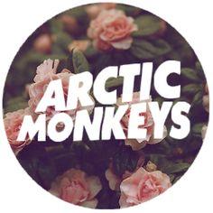 Arctic Monkeys floral round logo