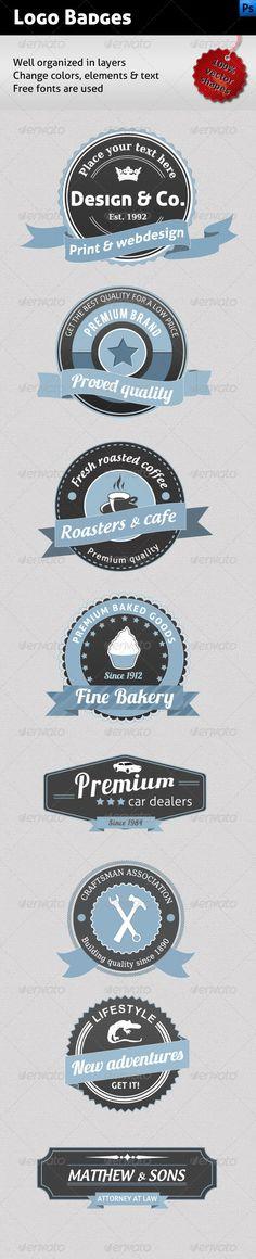 Logo Badges — Photoshop PSD #vintage #retro • Available here → https://graphicriver.net/item/logo-badges/1645355?ref=pxcr