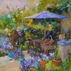 When in France, painting by artist Dreama Tolle Perry