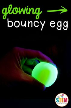 Awesome science for kids! Turn an ordinary egg into a glowing, bouncy egg. I can't believe how easy it is!