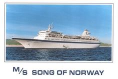 Song of Norway, our honeymoon cruise, Aug 1990.