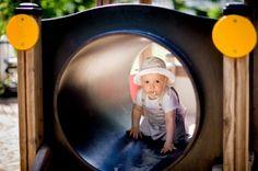 Lokomotywa i wagoniki #tunel #plac #zabaw