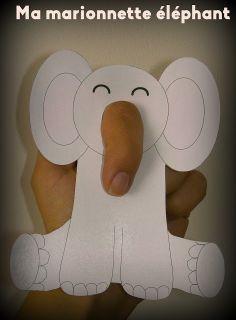 Gabulle in wonderland: DIY du mercredi : marionnette à doigt éléphant
