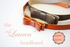 Leather-look headband Tutorial. So simple, elegant and completely adorable! I'm going to cut up the next leather-look cosmetic bag I find!! And, dying the elastic with tea... simply genius.